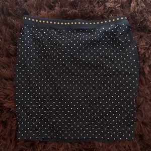 H&M Black Bedazzled Mini Skirt